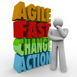 Agile Fast Change Action Thinker Words Agility
