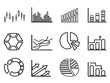 business statistics outline icon set