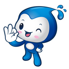 Water sprite Mascot the OK gesture. Home and Family Character De