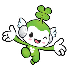 Lucky Fairy character on Running. Nature Character Design Series