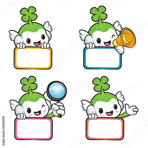 Diverse styles of Lucky Fairy Mascot Sets. Nature Character Desi