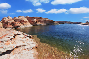 The artificial Lake Powell in the California