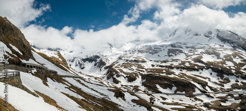 Panoramic view of Alps mountains, Austria.