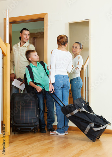family travelers   going on holiday