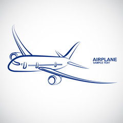 Airplane icon vector.illustration