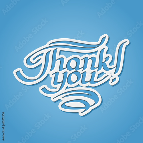 Thank you hand-drawn lettering