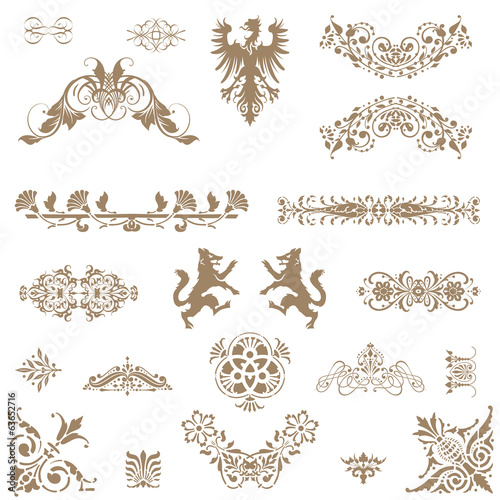 Vector set of decorative floral elements!