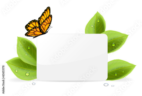 Paper card with butterfly