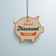 White Price Sticker Piggy Bank