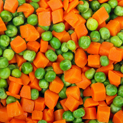peas and carrots background