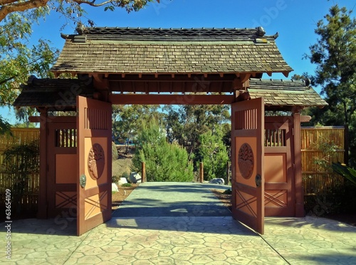 Garden Gate Entrance, Japanese Friendship Garden, Balboa Park