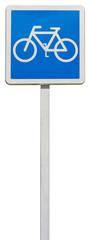 panneau d'indication, voie conseillée aux cyclistes