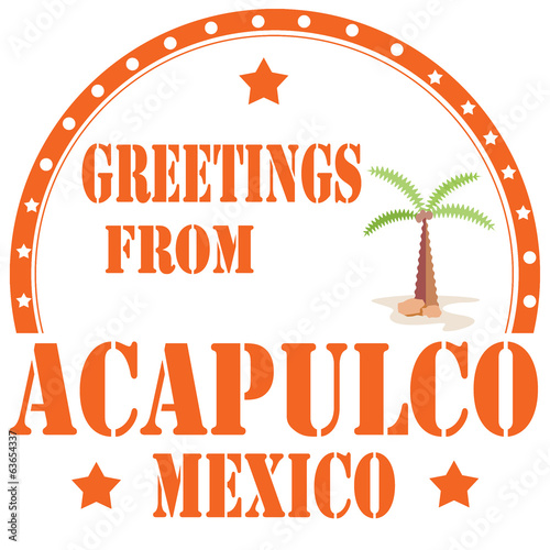 Greetings From Acapulco-stamp