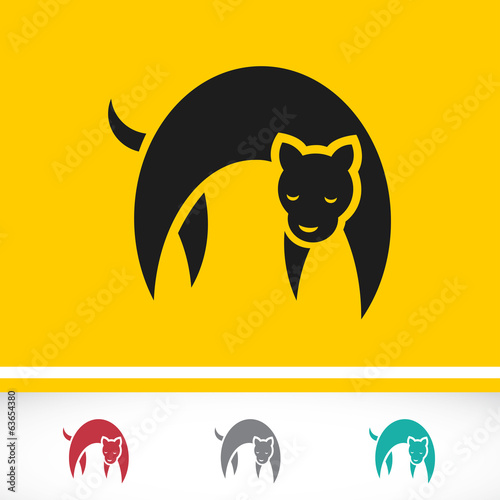 Vector image of tiger design