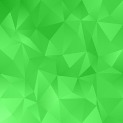 Green abstract irregular triangle pattern background