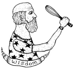 Old Man Character And Wisdom Banner