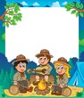 Children scouts thematic frame 1