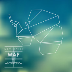 stylized map of Antarctica