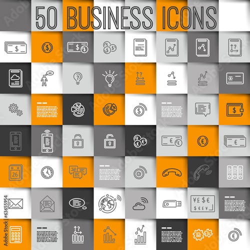 modern business icons