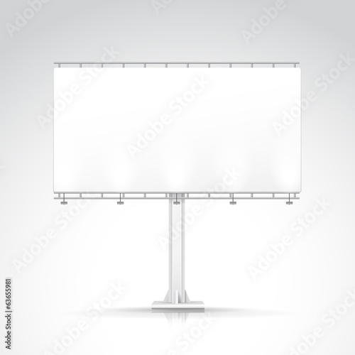 Blank Outdoor Billboard with Place for Message