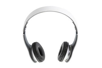 White earphones with black padding