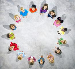 Kids standing in Circle