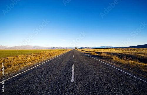 Continuous Road In New Zealand