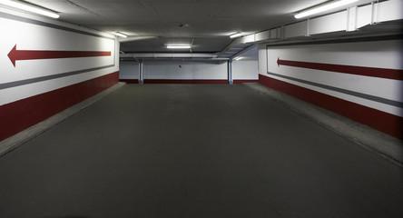 Parkhaus Innenaufnahme
