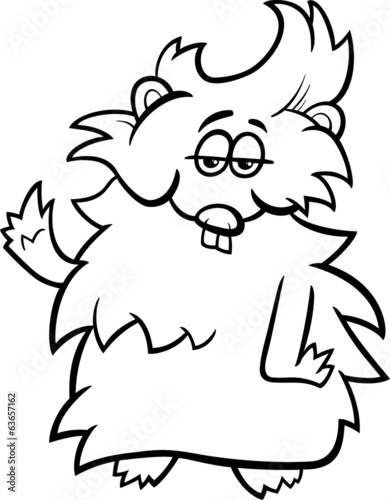 guinea pig cartoon coloring page
