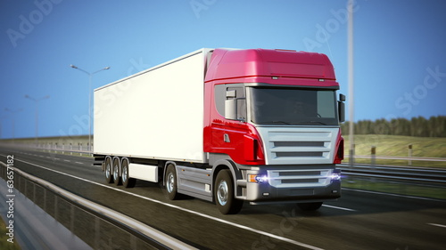 Logistics - Trucking. High quality 3d animation. Loopable