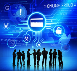 Corporate People Discussing Online Fraud