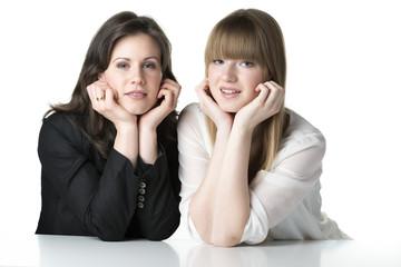 Two sitting women