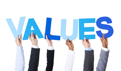 Multiethnic Business People Holding Values