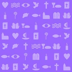 christliche Symbole als Hintergrund