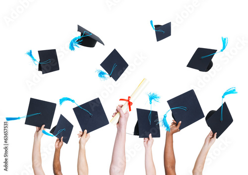 Group of Graduating Student's Throwing Hats