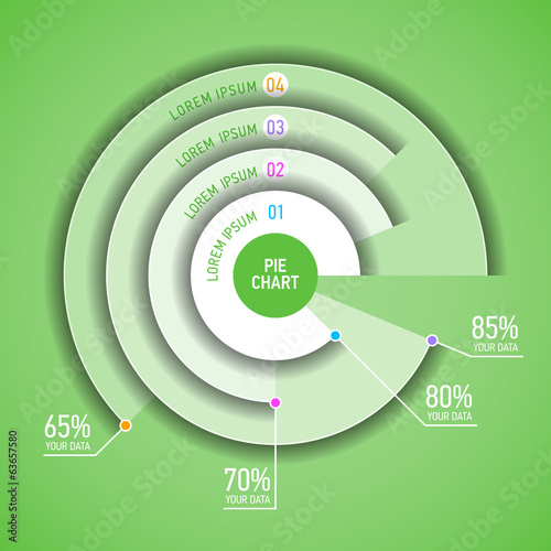 Pie chart infographic template