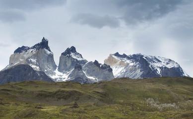 Chile. Patagonian landscape. Torres del Paine.