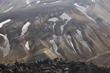 Iceland. South area. Fjallabak. Volcanic landscape with rhyolite poster