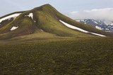 Iceland. South area. Fjallabak. Volcanic landscape with snow. poster