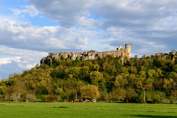 Castle and city of Mugnano,  Lazio (Italy)