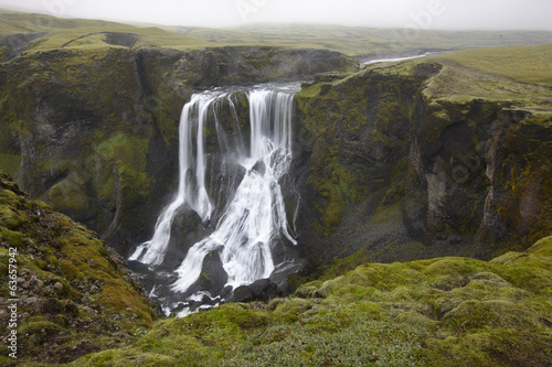 Iceland. South area. Lakagigar. Fagrifoss waterfall.