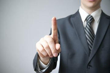 Businessman gesture with his hands