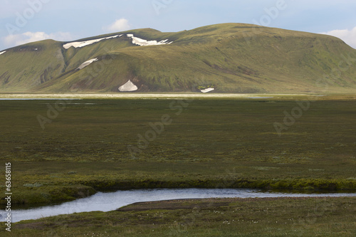 Iceland. South area. Fjallabak. Landscape with rhyolite formatio