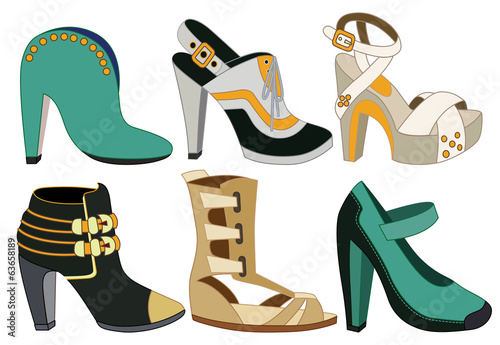 set of women shoes (vector illustration)
