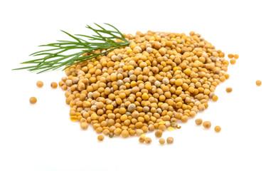 Mustard seeds heap