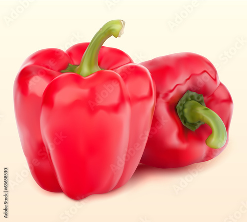red pepper on the table