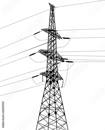 electrical single pylon and cables