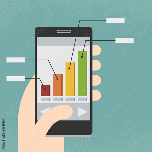 Mobile phone and Infographics