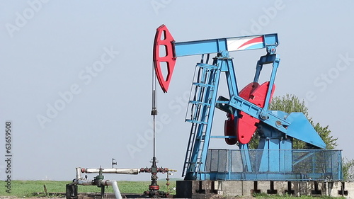 oil pump jack and pipeline