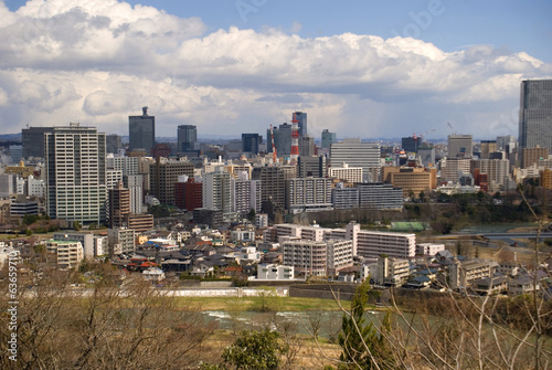 View of the city, Sendai, Japan